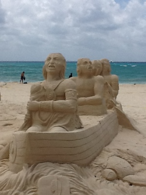 Playa del Carmen sand sculptures